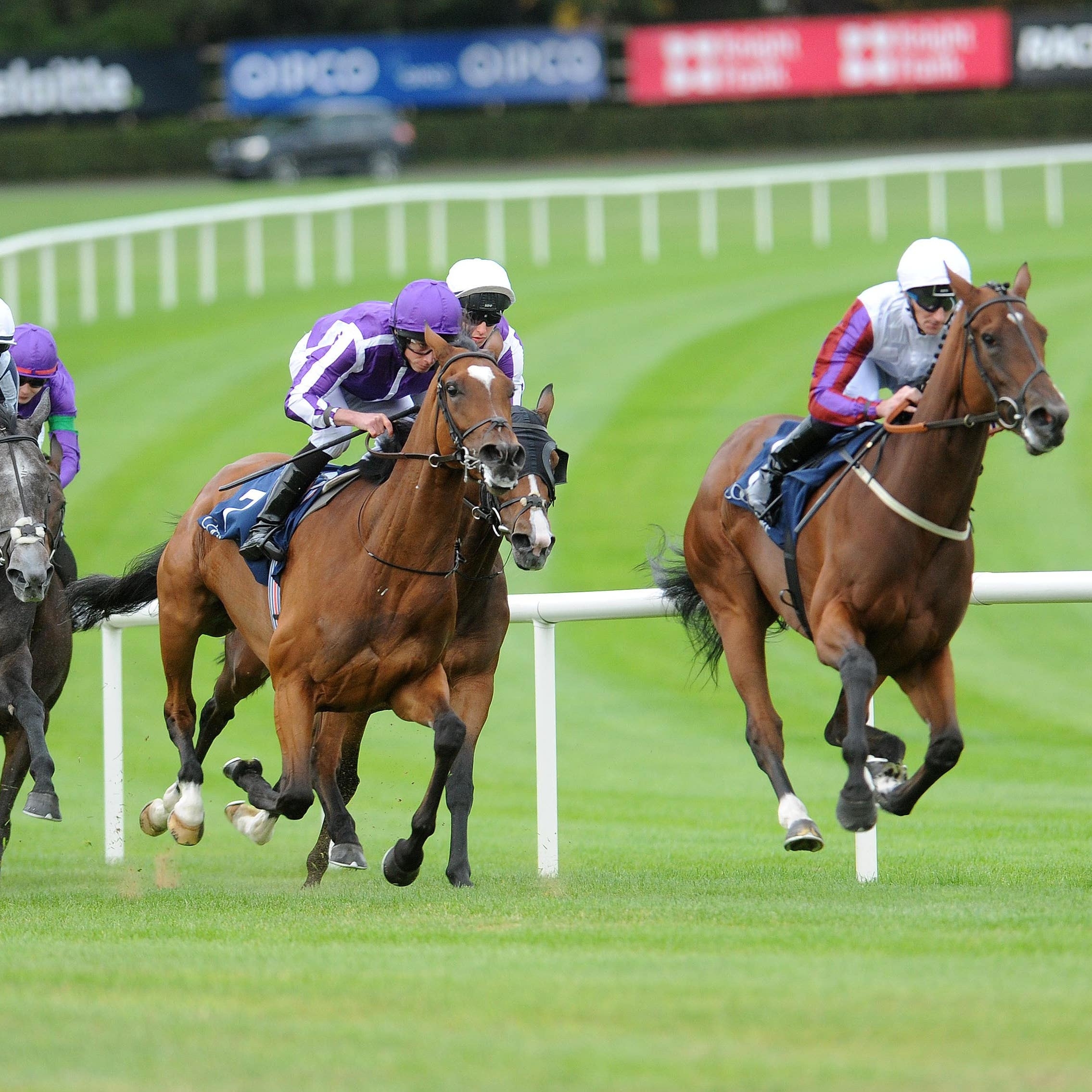 Laurens and Danny Tudhope on their way to Matron Stakes glory at Leopardstown