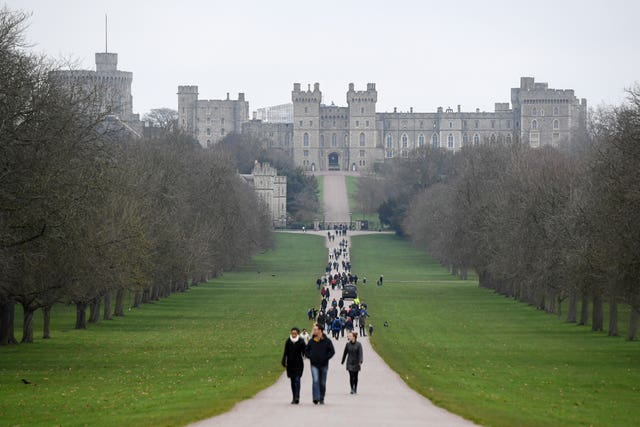 The Emperor will stay at Windsor Castle (Kirsty O'Connor/PA)
