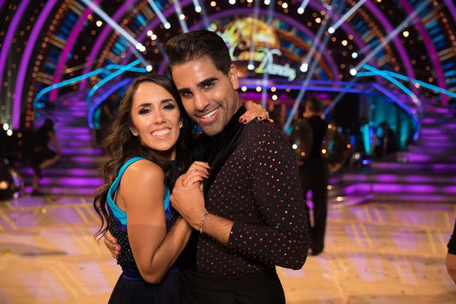 Ranj Singh with Janette Manrara on Strictly