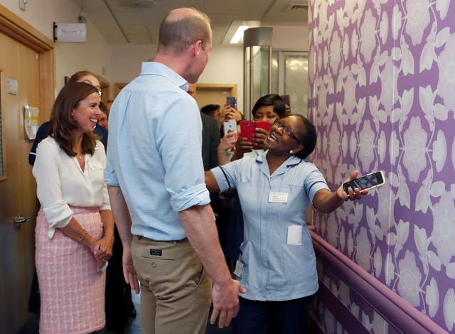 The Duke of Cambridge visits the Royal Marsden