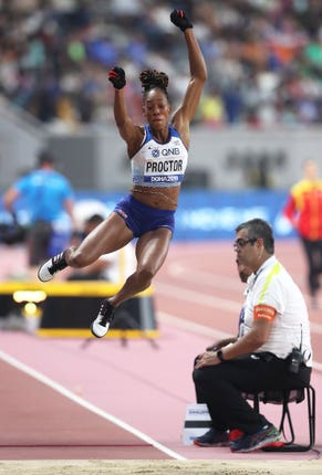 Shara Proctor booked her place in the long jump final