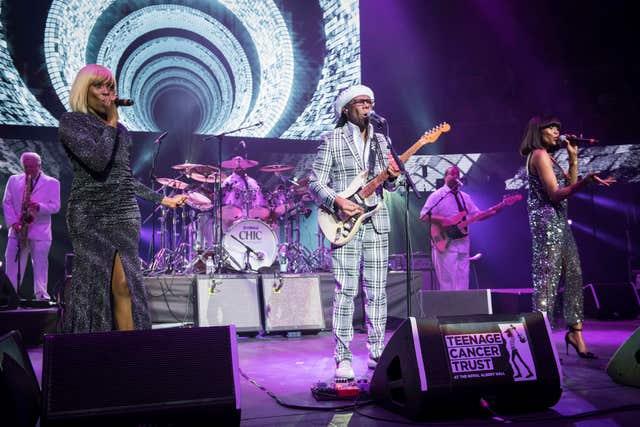 Nile Rodgers and Chic on stage
