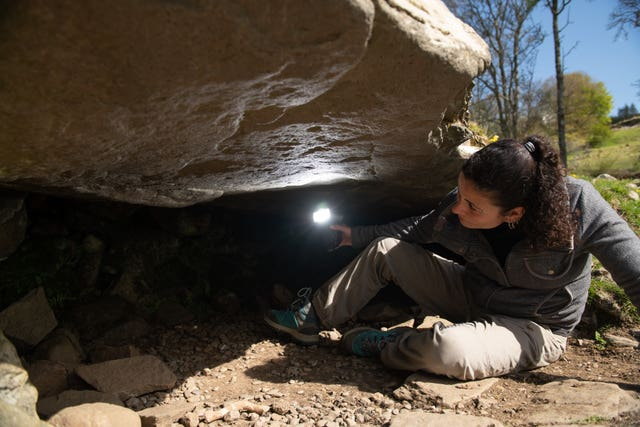 Joana Valdez-Tullett, Postdoctoral Research Assistant at the Rock Art Project in Scotland, researching prehistoric sculptures found at Kilmartin Glen