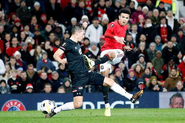 Greenwood improved his goal tally to six goals in all competitions for Manchester United