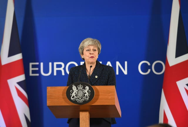Prime Minister Theresa May ruled out revoking Article 50 in Brussels (Stefan Rousseau/PA)