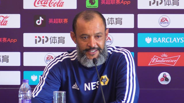Nuno Espirito Santo has been pleased with Wolves' trip to China