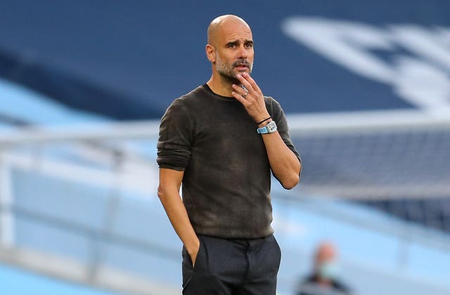 Guardiola has had a number of injuries to contend with of late (Catherine Ivill/PA).