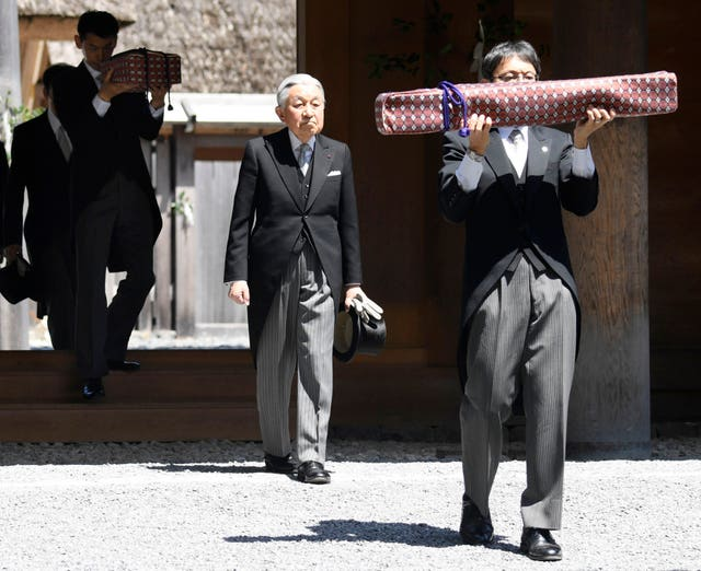Akihito at Ise Shrine