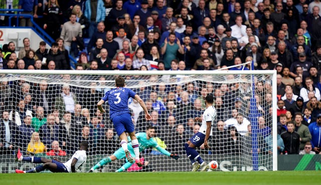 Marcos Alonso drove in a fine second goal for Chelsea