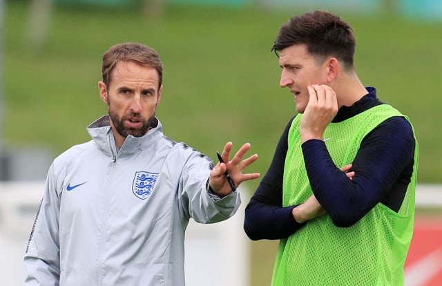 Gareth Southgate, left, withdrew Maguire from the England squad
