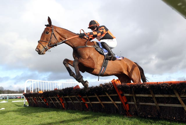 Nada To Prada ridden by Richard Patrick during the Sky Bet Supreme Trial Rossington Main Novices' Hurdle at Haydock