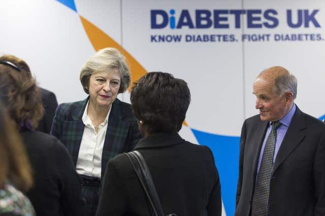 Theresa May visits to Diabetes UK