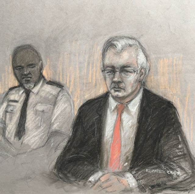 Julian Assange (right) might be held in a Supermax prison, if convicted, the Old Bailey heard (Elizabeth Cook/PA)