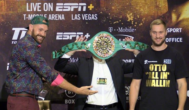 Tyson Fury v Otto Wallin – Press Conference – MGM Grand