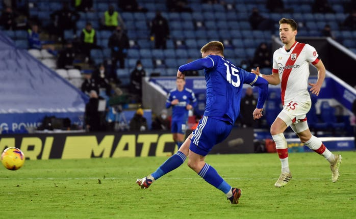 Harvey Barnes wrapped up victory for Leicester