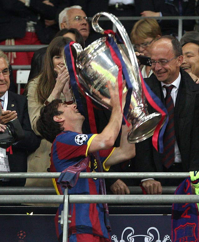 It has been five years since Messi won the Champions League with Barcelona