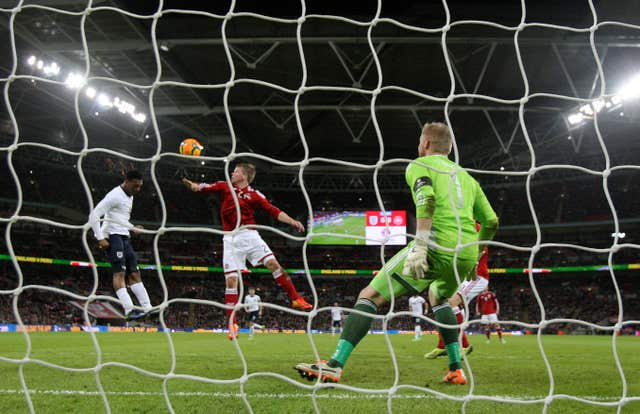 Daniel Sturridge's header secured victory against Denmark in 2014 (Nick Potts/PA).