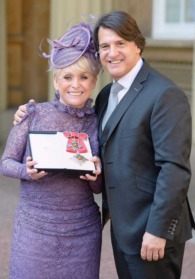 Barbara Windsor with husband Scott Mitchell (Credit: PA)