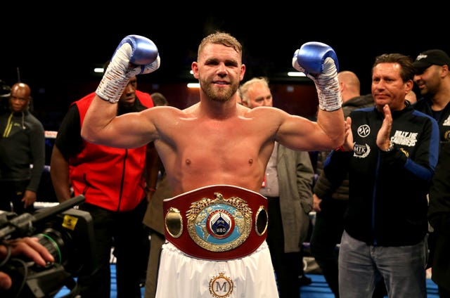 Billy Joe Saunders is a two-weight world champion and has compiled a professional record of 29-0 (Paul Harding/PA)