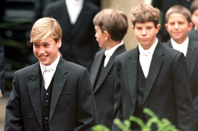 A young Prince William at Eton (John Stillwell/PA)