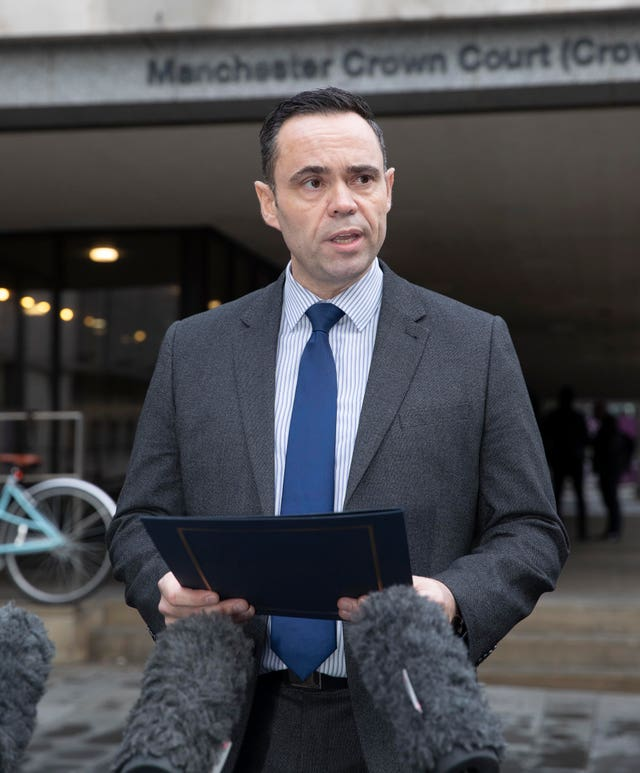 Detective Chief Inspector Richard Eales outside court after sentencing (Jason Roberts/PA)