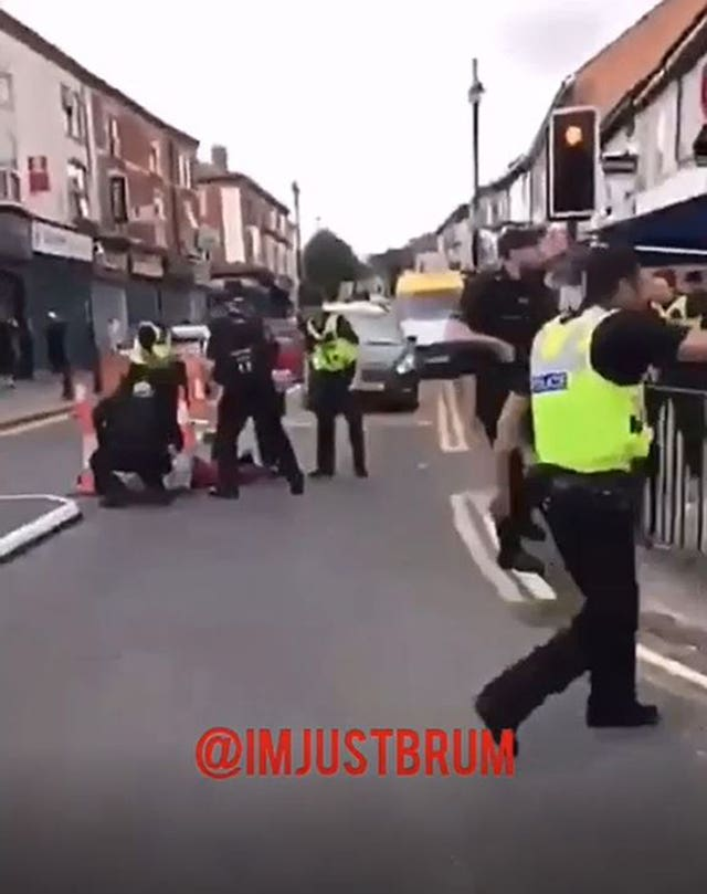 Police officer ran over in Birmingham