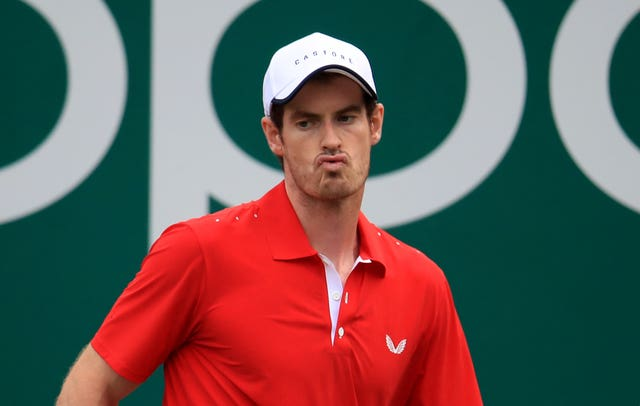 Murray looked uncomfortable at stages of the first-round defeat.