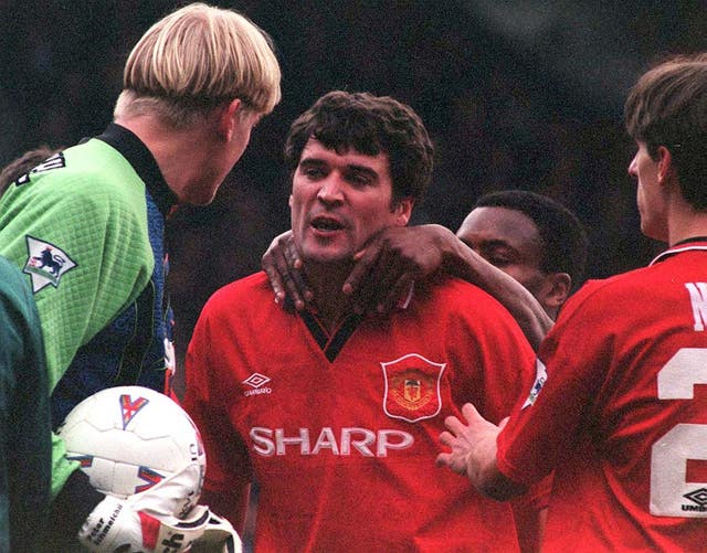 Former England defender Paul Parker (back) played alongside the likes of Roy Keane (centre) during his time at Old Trafford