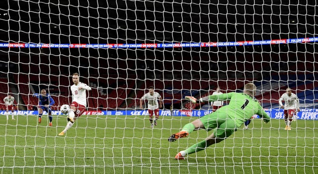 Christian Eriksen's penalty was enough to see Denmark win their Nations League fixture at Wembley in October.