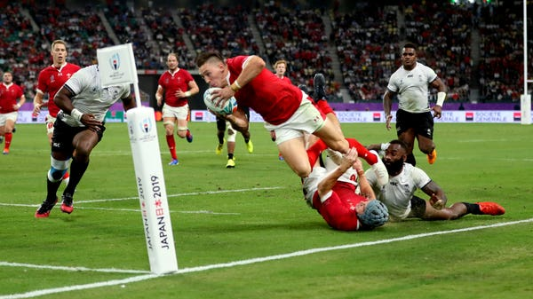 Day 23 at the Rugby World Cup: Wales made to work hard for Fiji win