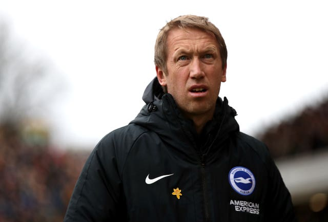Brighton manager Graham Potter cannot wait to welcome supporters back to the Amex Stadium