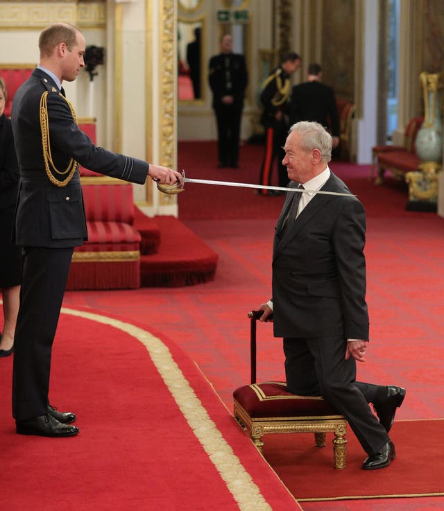 Historian and broadcaster Simon Schama received a knighthood for services to history (Yui Mok/PA)