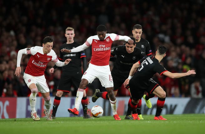 Rennes were knocked out by Arsenal last season