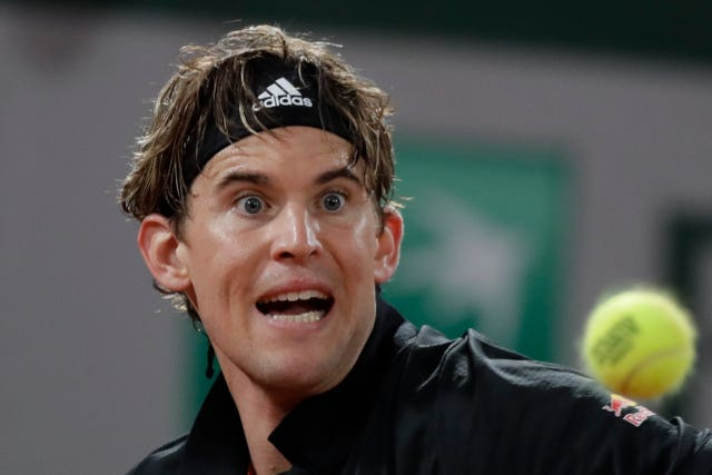 Dominic Thiem kept his eye on the ball against Marin Cilic