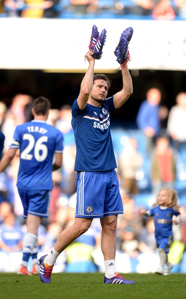 Lampard said goodbye to Chelsea in 2014