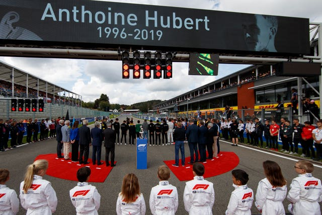 A moment of silence took place prior to the Formula One grand prix