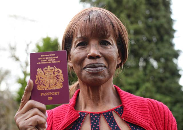 Mrs Williams' son Mozi Haynes had his deportation halted while his case was reviewed by the Home Office (Yui Mok/PA)