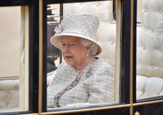 The Queen during the Trooping the Colour