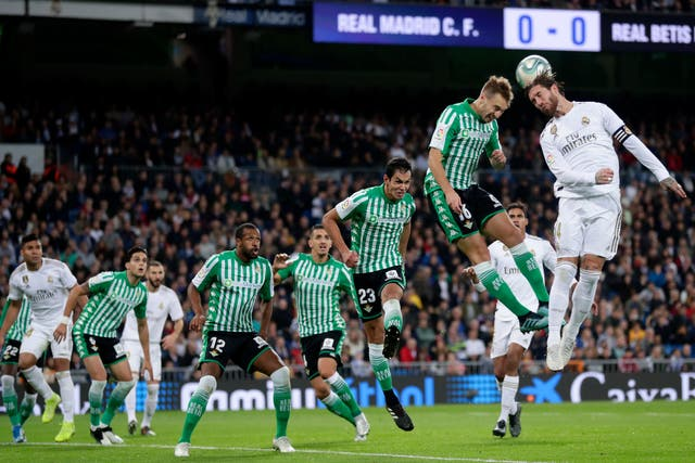 Real Madrid had to settle for a point against Betis (