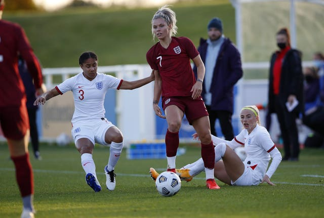 England Women held an intra-squad training match at St George's Park before a coronavirus scare ended the camp.