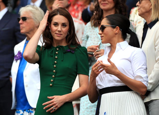 The Duchesses of Cambridge and Sussex were in the Royal Box