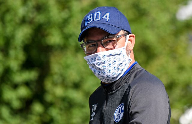 Schalke head coach David Wagner - the former Huddersfield manager - leaves the hotel where his team stay in quarantine