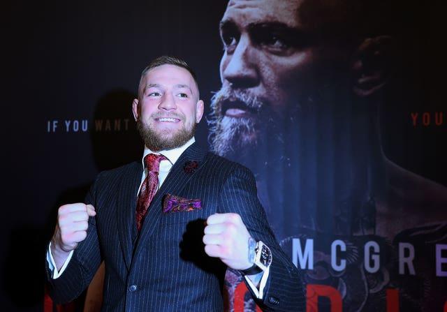 Conor McGregor at the Conor McGregor: Notorious world premiere