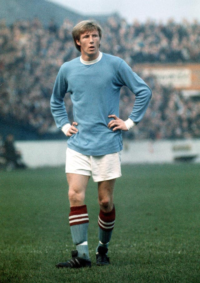 Bell made 492 appearances and scored 152 goals in 13 years at City