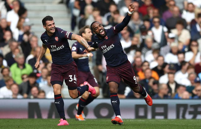 Lacazette put Arsenal ahead at Craven Cottage.