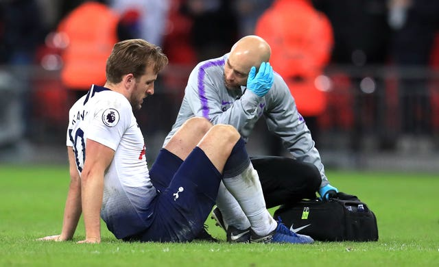 Spurs striker Harry Kane limped off the pitch at full-time with an ankle injury