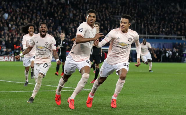 Marcus Rashford's spot-kick sealed a remarkable Manchester United win at the Parc des Princes in March 2019