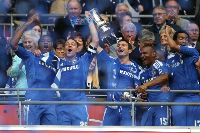 He lifted the FA Cup with Terry again in May 2012 after Chelsea's final triumph over Liverpool