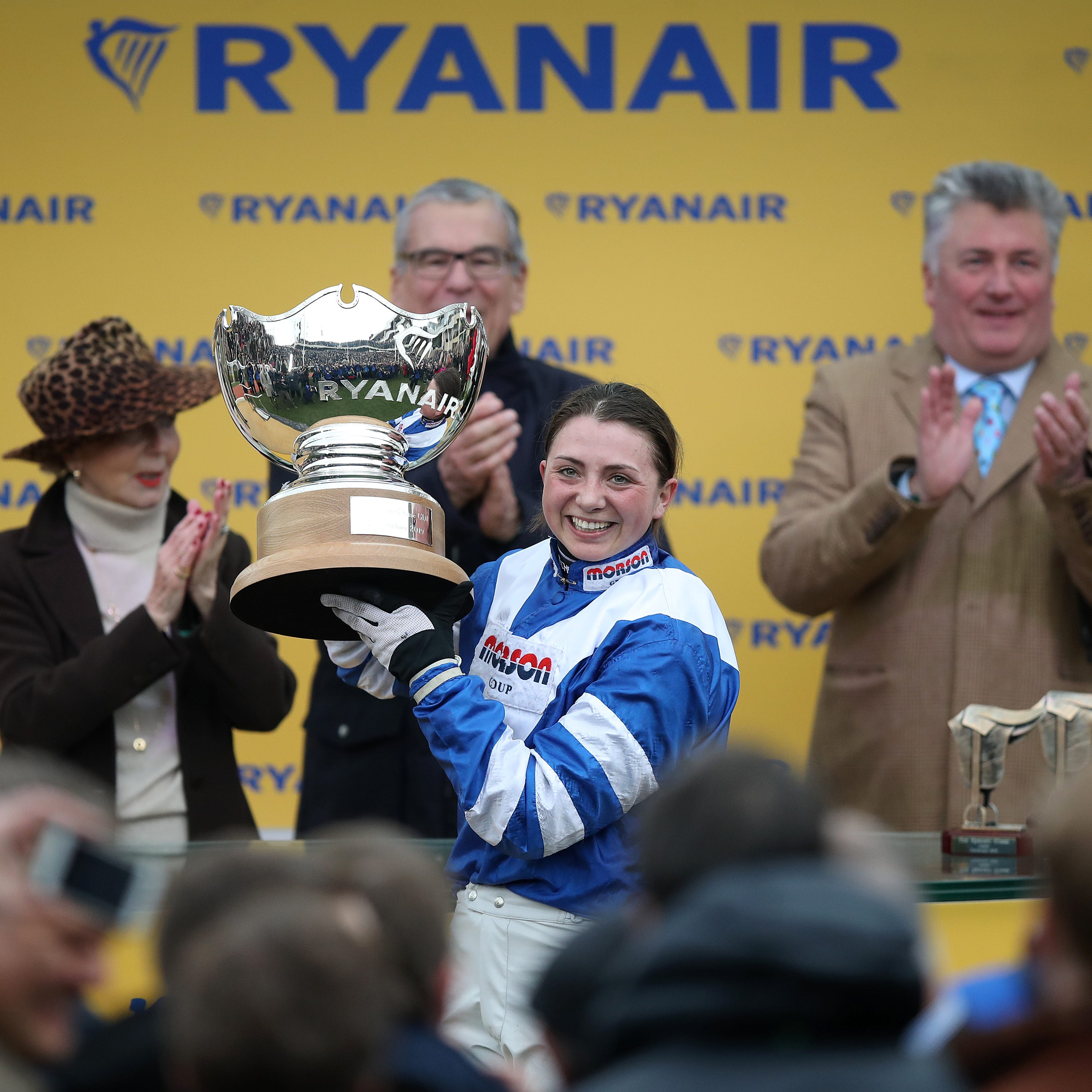 Cheltenham heroine Bryony Frost was taken to hospital after a fall at Southwell