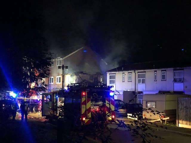 Firefighters had brought the fire under control by about 3.30am